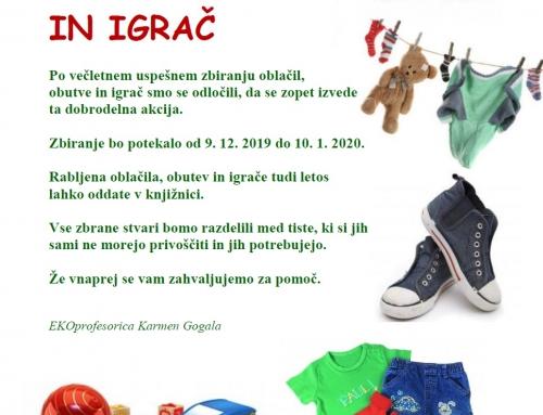 Dobrodelni akciji v decembru