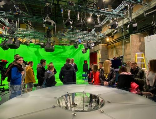 Ekskurzija na RTV Slovenija in Infonet media