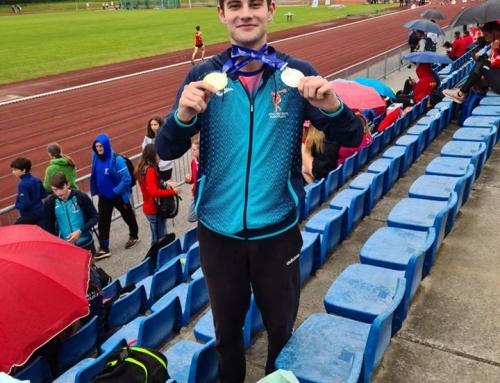Rok Makuc, mladinski državni prvak v skoku v daljino