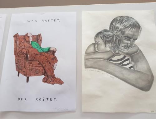 Podelitev nagrad dijakom, ki so ustvarili najboljše ilustracije